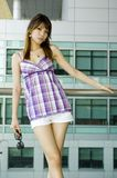 Cute Chinese girl Stock Images