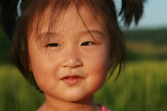 Cute Chinese girl in summer. Portrait face Royalty Free Stock Photos