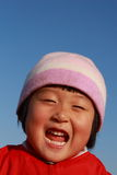 Cute Chinese girl in winter. Time portrait Stock Image