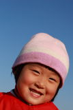 Cute Chinese girl in winter. Time portrait Stock Images