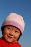 Cute Chinese girl in winter Stock Image