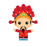 Cute Chinese god of wealth Royalty Free Stock Photos