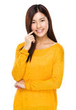Cute chinese model posing with confidence Stock Photo