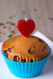 Cute Chocolate Cupcake Royalty Free Stock Photos