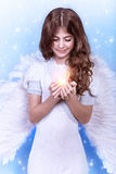 Cute Christmas angel Royalty Free Stock Photo