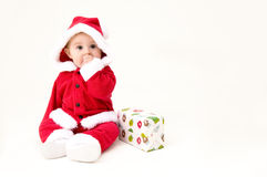 Cute Christmas Baby. Isolated on White Background Royalty Free Stock Images