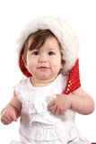 Cute christmas baby stock photo