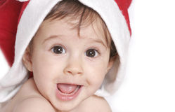 Cute christmas baby Stock Images