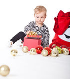Cute christmas baby girl Royalty Free Stock Image