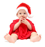 Cute christmas baby Royalty Free Stock Photo