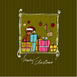 Cute Christmas background Stock Photography