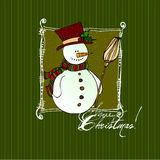 Cute Christmas background Stock Images