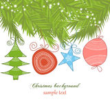 Cute Christmas background Royalty Free Stock Images