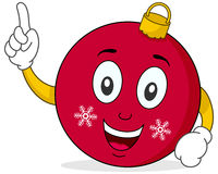 Cute Christmas Ball Character Stock Image
