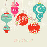 Cute Christmas balls Royalty Free Stock Photo