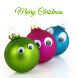 Cute Christmas balls Stock Image