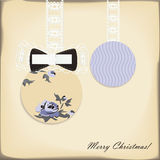 Cute christmas balls Royalty Free Stock Images