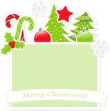 Cute Christmas banner Royalty Free Stock Image