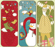 Cute Christmas Banners Stock Image