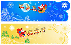Cute Christmas banners. Royalty Free Stock Photo