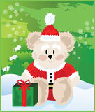 Cute Christmas Bear Stock Images