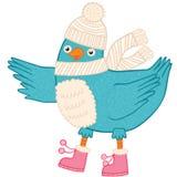 Cute Christmas bird Stock Images