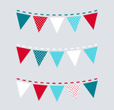 Cute Christmas bunting or flags Stock Image