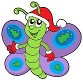 Cute Christmas Butterfly Stock Photo