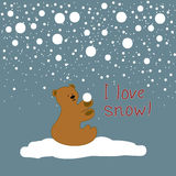 Cute Christmas card Royalty Free Stock Photo