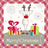 Cute Christmas card Royalty Free Stock Image
