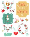 Cute Christmas clipart Stock Photo