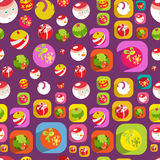 Cute Christmas colorful flat christmas seamless ba Stock Image