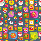 Cute Christmas colorful flat christmas seamless ba Stock Photos