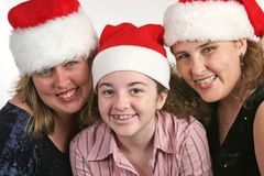 Cute Christmas Cousins Stock Photography
