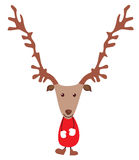 Cute Christmas deer Royalty Free Stock Photo