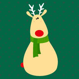 Cute Christmas deer royalty free stock photography