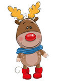 Cute Christmas deer and Santa Stock Photography