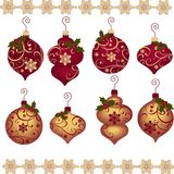 Cute christmas design elements Stock Photos