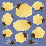 Cute christmas design elements Stock Photography