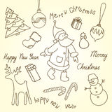 Cute Christmas  doodles Royalty Free Stock Image