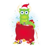 Cute christmas dragon Royalty Free Stock Photo
