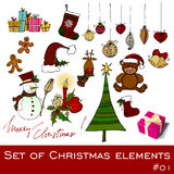 Cute Christmas elements Stock Image