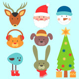 Cute christmas elements set Stock Photo