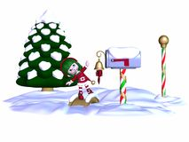 Cute Christmas Elf Royalty Free Stock Images