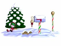 Cute Christmas Elf Royalty Free Stock Photography