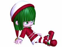 Cute Christmas Elf Stock Image