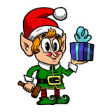 Cute Christmas Elf Royalty Free Stock Photo