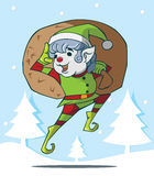 Cute Christmas elf Stock Images