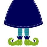 Cute Christmas Elf Legs Stock Images