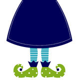 Cute christmas elf legs Stock Images